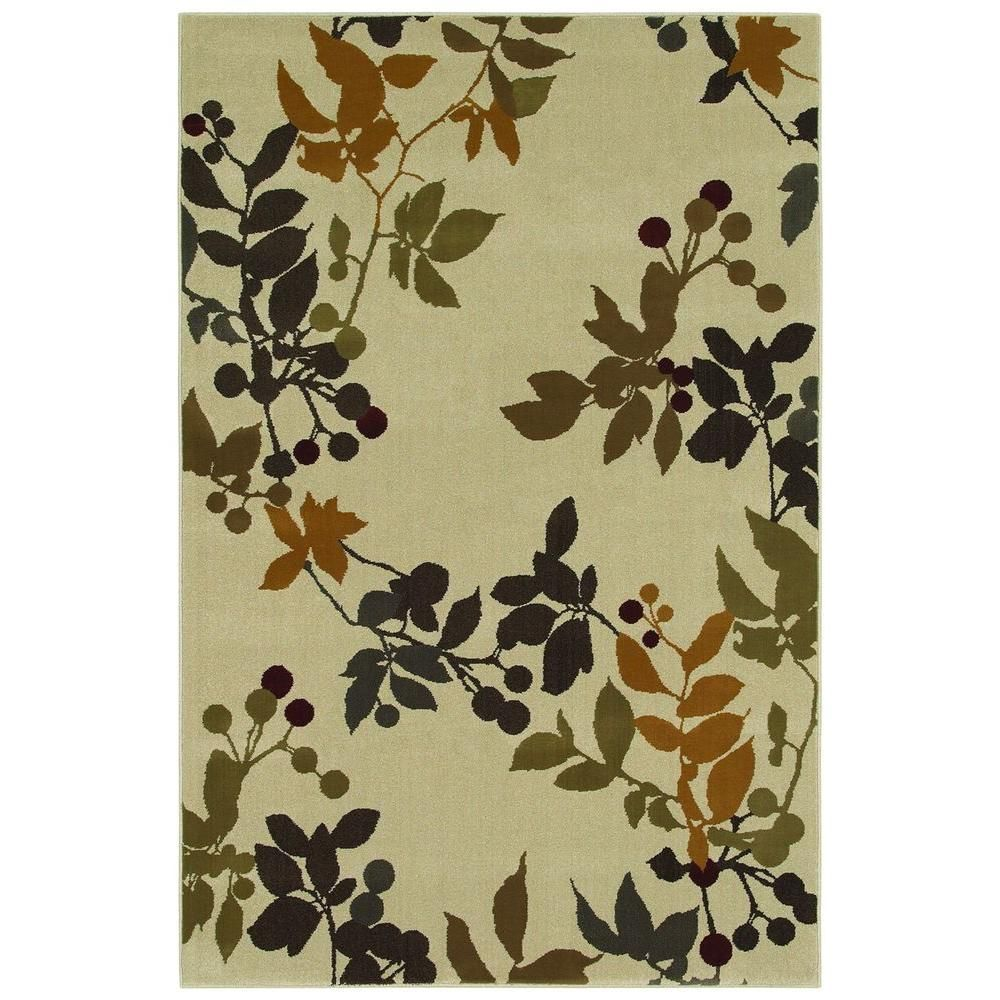Area Rug The Mohawk Home Endicott Shell 8 Ft X 10 Features Silhouetted Oversize Botanical Elements Create A