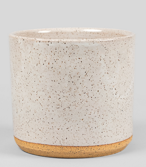 """Gloss White/ Matte White Glaze7"""" Outside DiameterSuitable For Indoor/Outdoor UseDrainage HoleHigh Fire Terracotta PotteryMade In Baja California"""