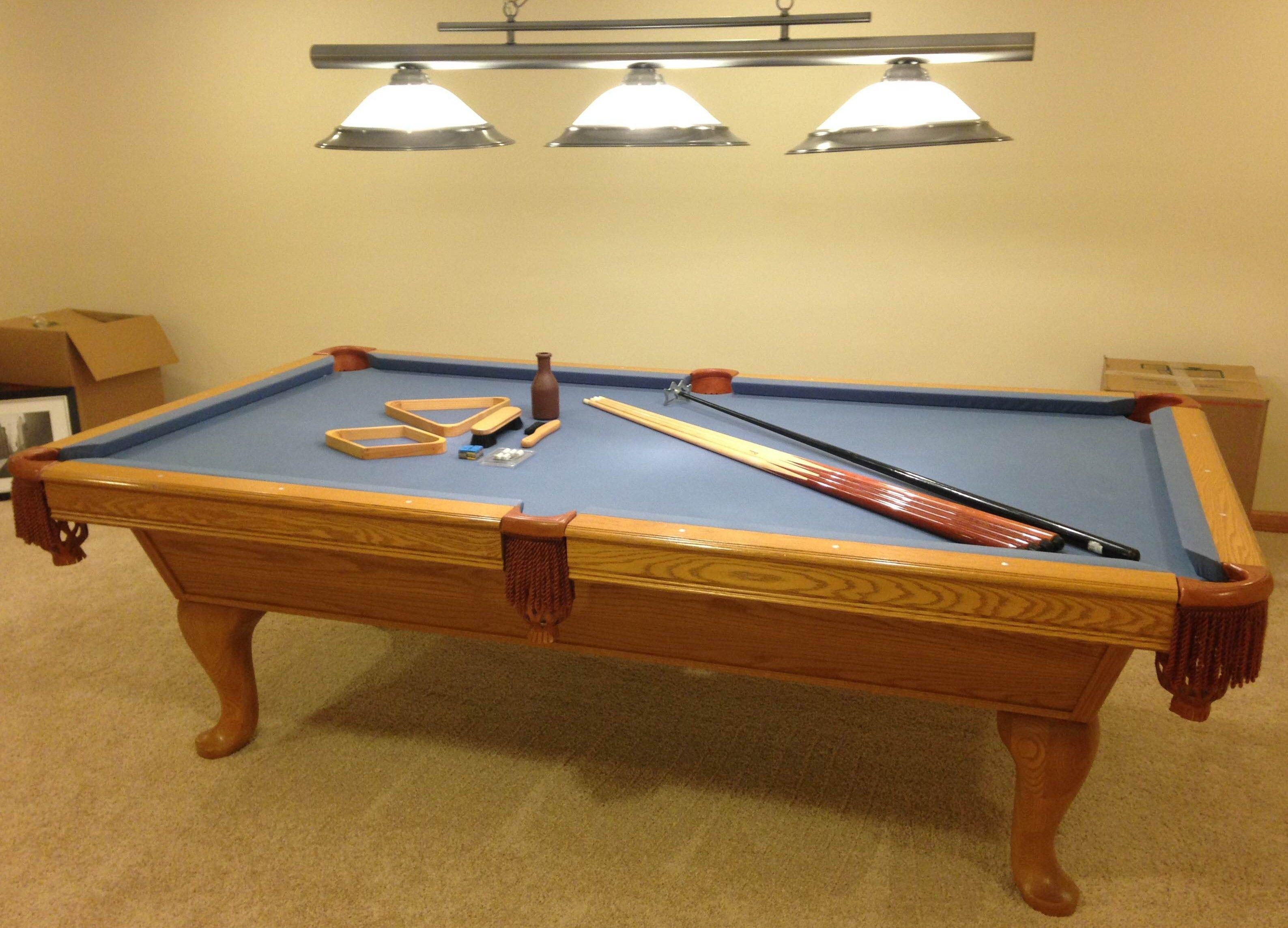 8 kasson genuine 3 piece slate pool table sold