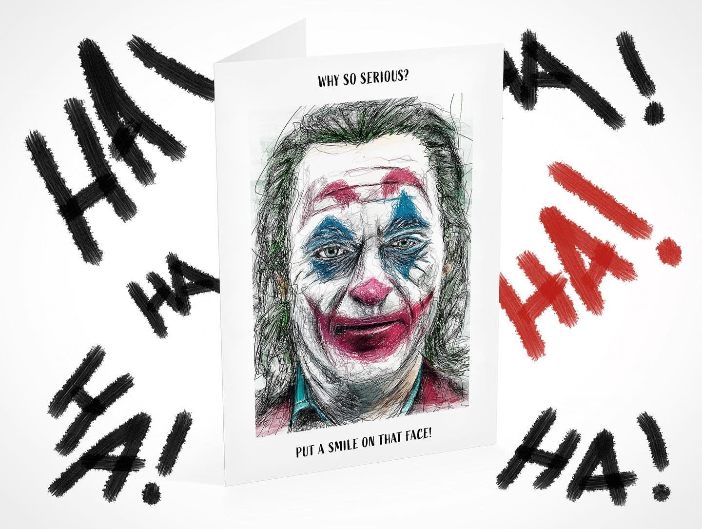 Greeting Cards Coming Soon Starting Off With The Joker Interested In Purchasing My Cards Soon Head T Greeting Card Design Card Design Birthday Cards