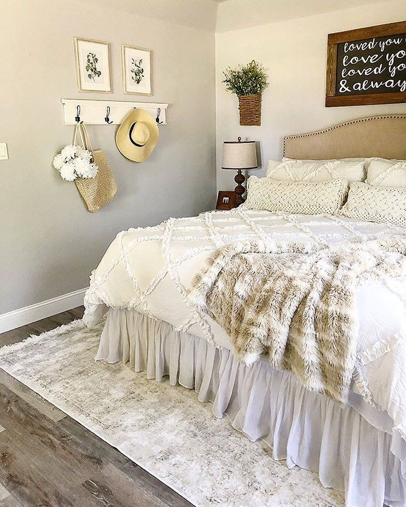 Cosy Bedroom Ideas For A Restful Retreat: I Spy An AFH Ruffled Comforter In This Comfy-cozy Bedroom