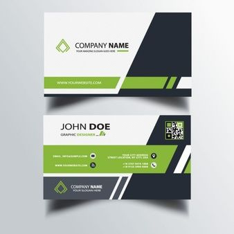 Download Polygonal Green Modern Business Card For Free Modern
