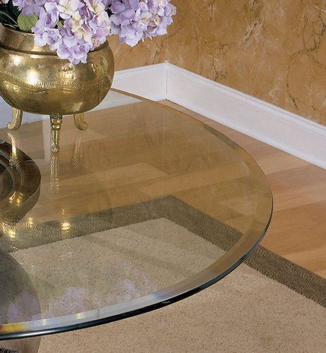Superb 45 In. Diameter Glass Table Top   8mm Thick With 1 In. Bevel Edge