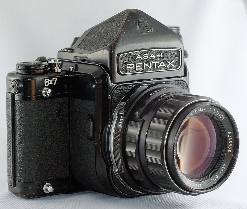 My Most Favorite of them all.. Pentax Asahi 6X7.. Medium Format Film Camera for all you non photo people..