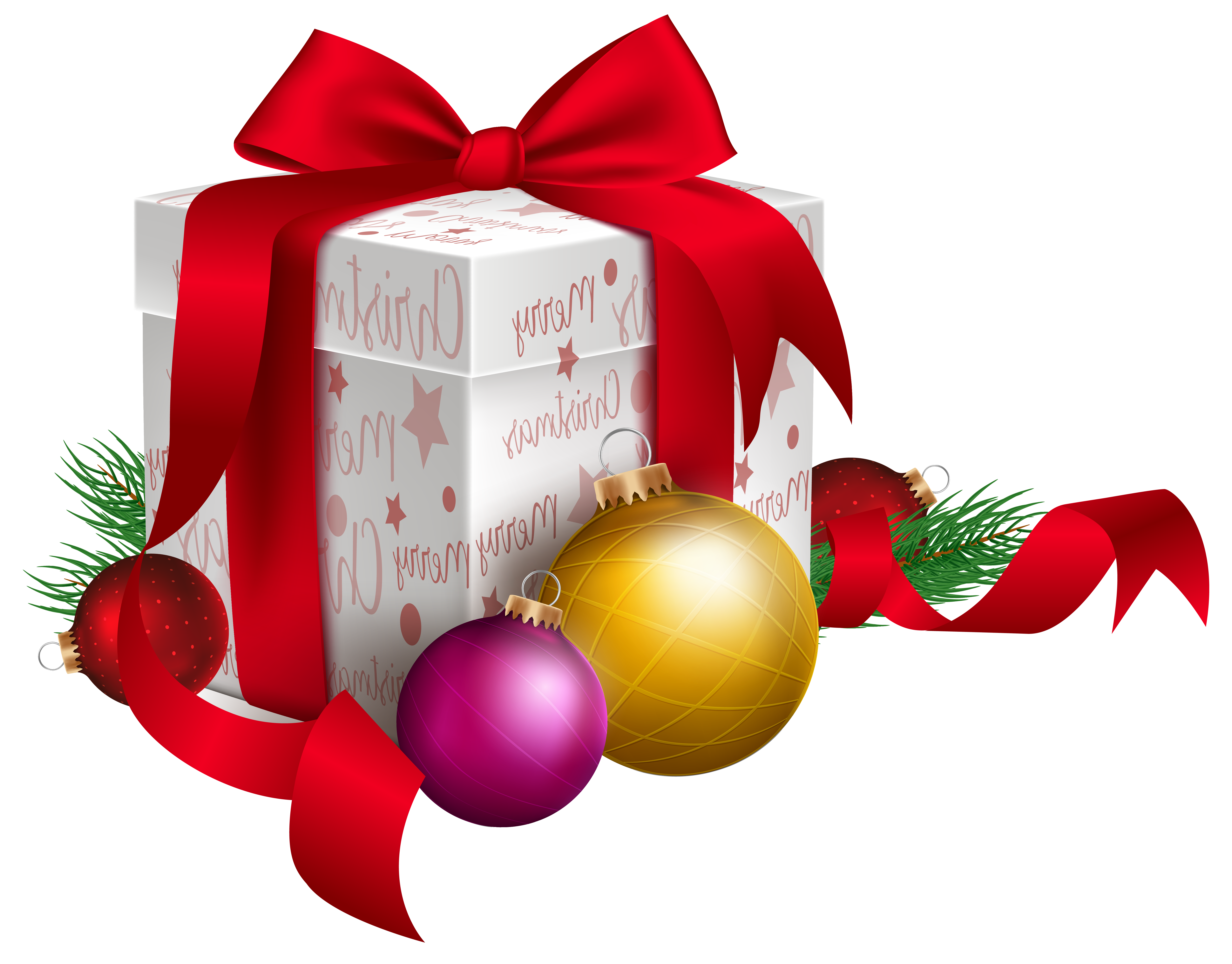 Christmas Gift And Ornaments Transparent Png Clip Art Image Gallery Yopriceville High Quality Images Christmas Stickers Christmas Gifts Christmas Clipart