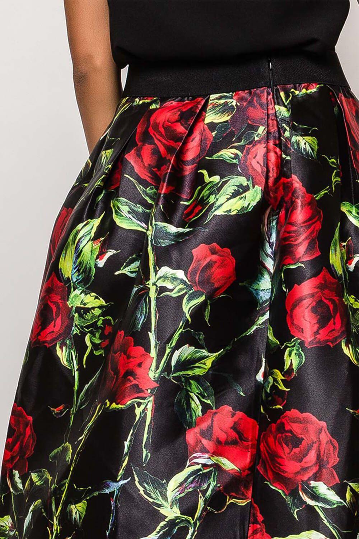 Dlhá elegantná sukňa s kvetinovým vzorom  19e2bd6e859