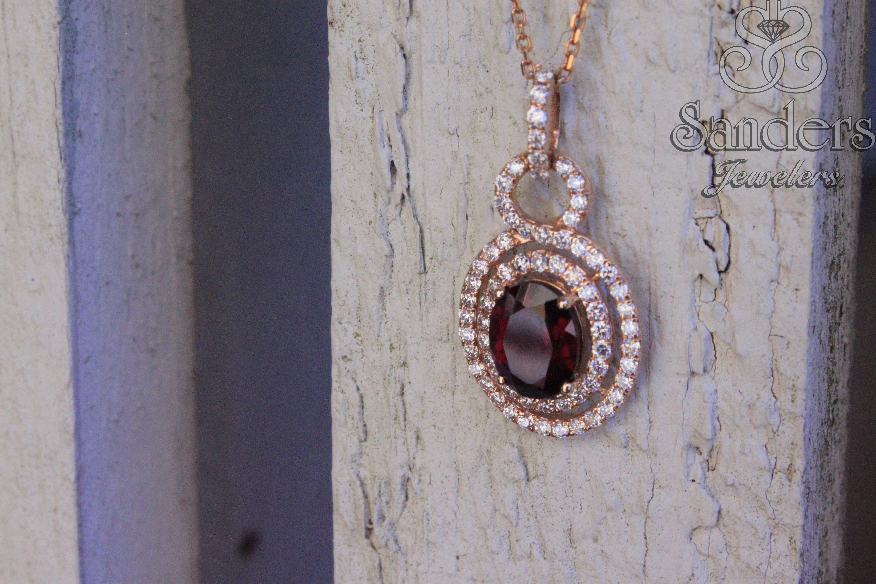 tiaara tictail jewelry necklace birthstone january cable gemstone chain rhodolite garnet pendant fine with silver