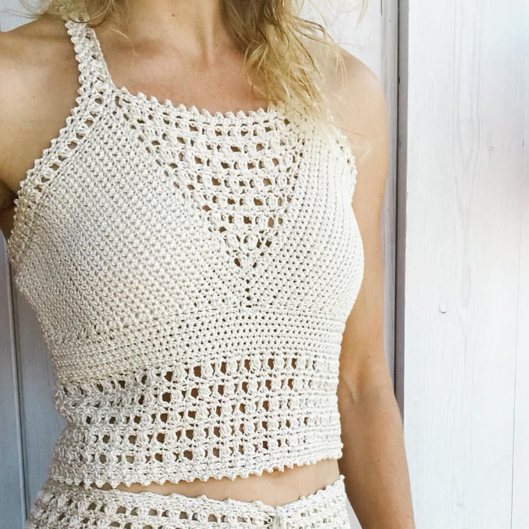 Leyla top and highwaist shorts!!🌟🌸Crochet patterin available in my ...