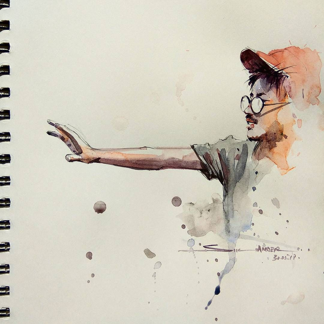 Figures Drawing Watercolorpainting Watercolor Watercolour