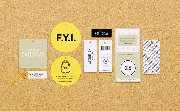 Nas. -  nice colors. Kate Spade Saturday Packaging and Product on Behance