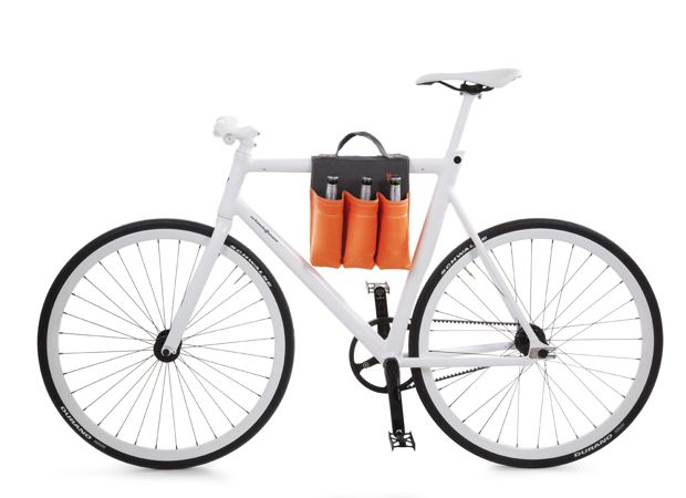 Here's a good tip for all cyclists:  The one & only important saddle bag is now available!    With six compartments for six bottles... turning every bicycle tour into a detour of some kind!