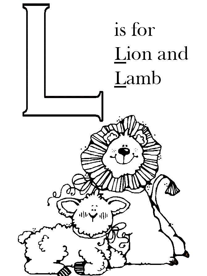 Lion Lamb Colouring Pages Page 3