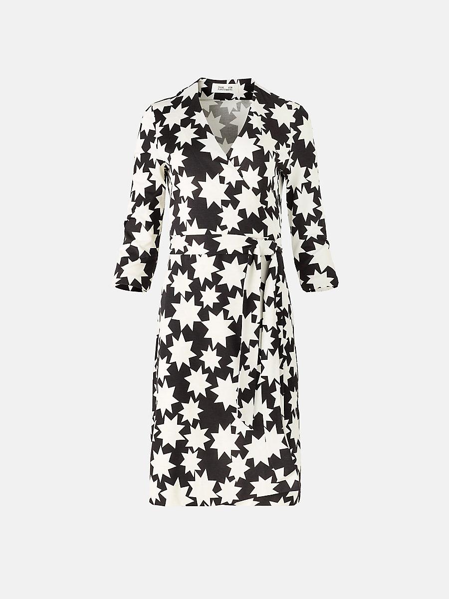 New Julian Two Silk Jersey Wrap Dress In Vintage Stars Jersey Wrap Dress Wrap Dress Wrap Dress Styles [ 1200 x 900 Pixel ]