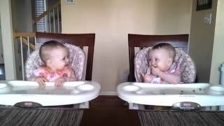Adorable Twins Rock Out To Daddy's Music, via YouTube.