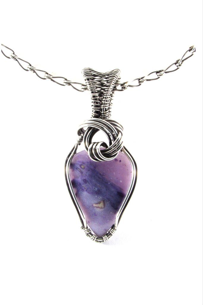 Morado Opal Silver Pendant Necklace Wire Wrap Jewelry | Wire worked ...
