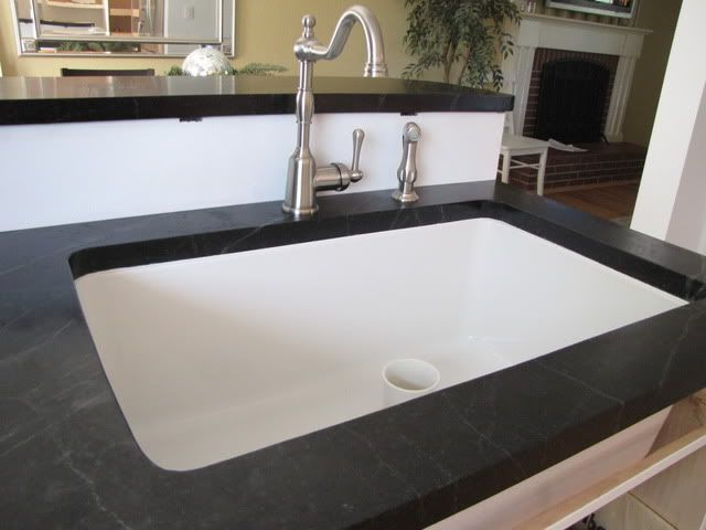 Black Countertop White Non Apron Sink White Undermount Kitchen Sink Sink White Sink