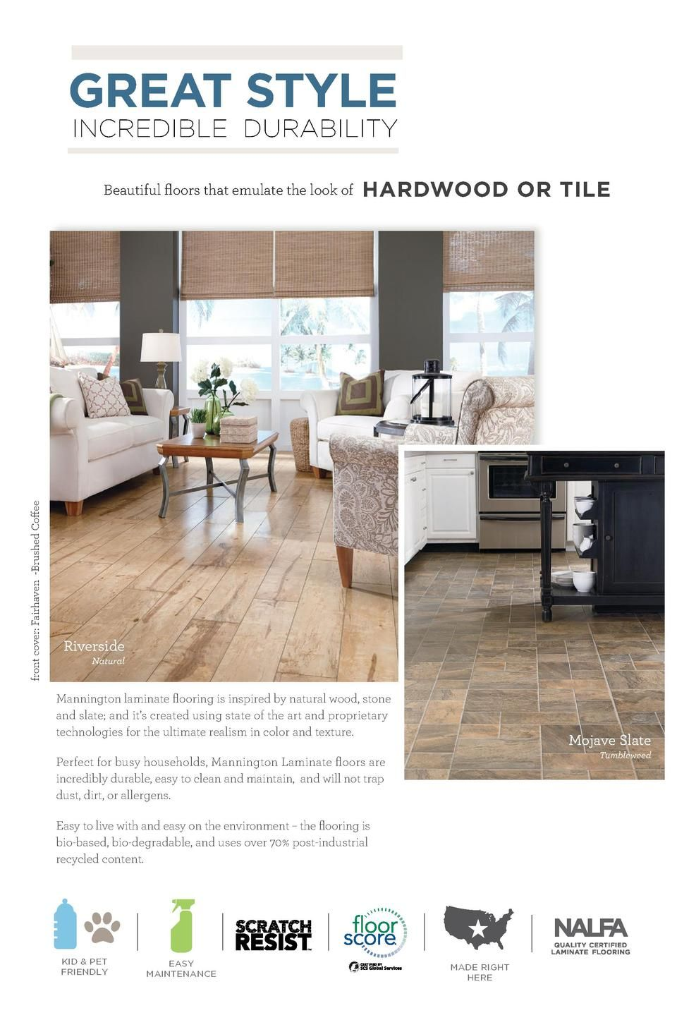 Mannington Laminate 2015 Catal Simplebooklet Com Mannington Flooring Rustic Flooring House Flooring