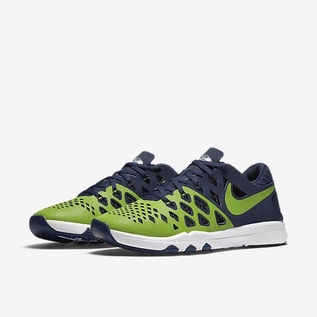 433675342 Nike Train Speed 4 AMP NFL Seattle Seahawks Mens Shoes Action Green Navy  848587  Nike  RunningCrossTraining
