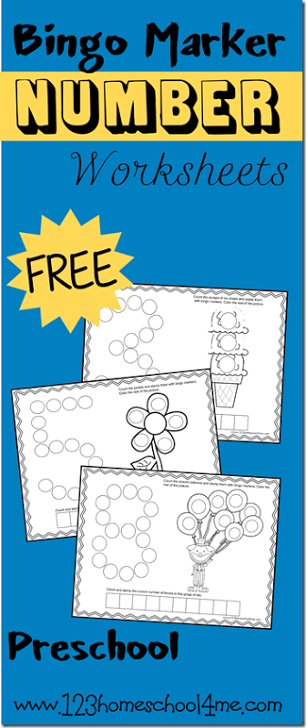 FREE Numbers 1-12 Worksheets for Bingo Markers | Mathe, Schule und ...