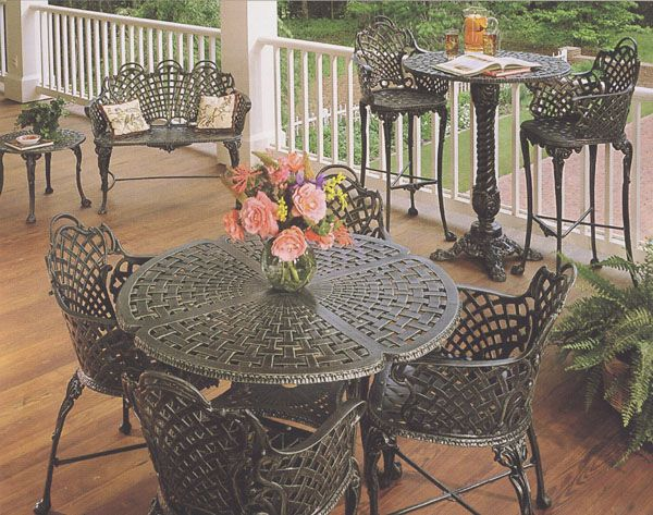 cast aluminium garden furniture