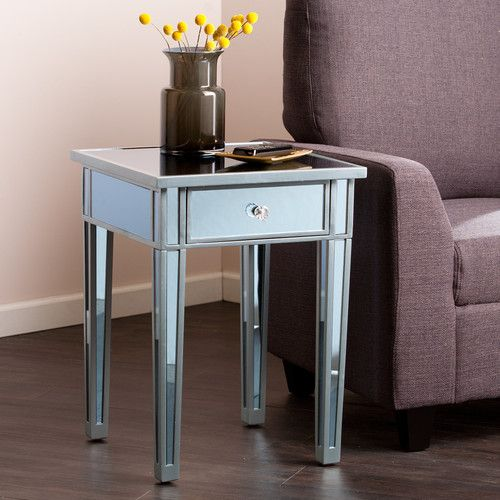 Found It At Wayfair Norton Mirror End Table Design Details - Wayfair mirrored side table
