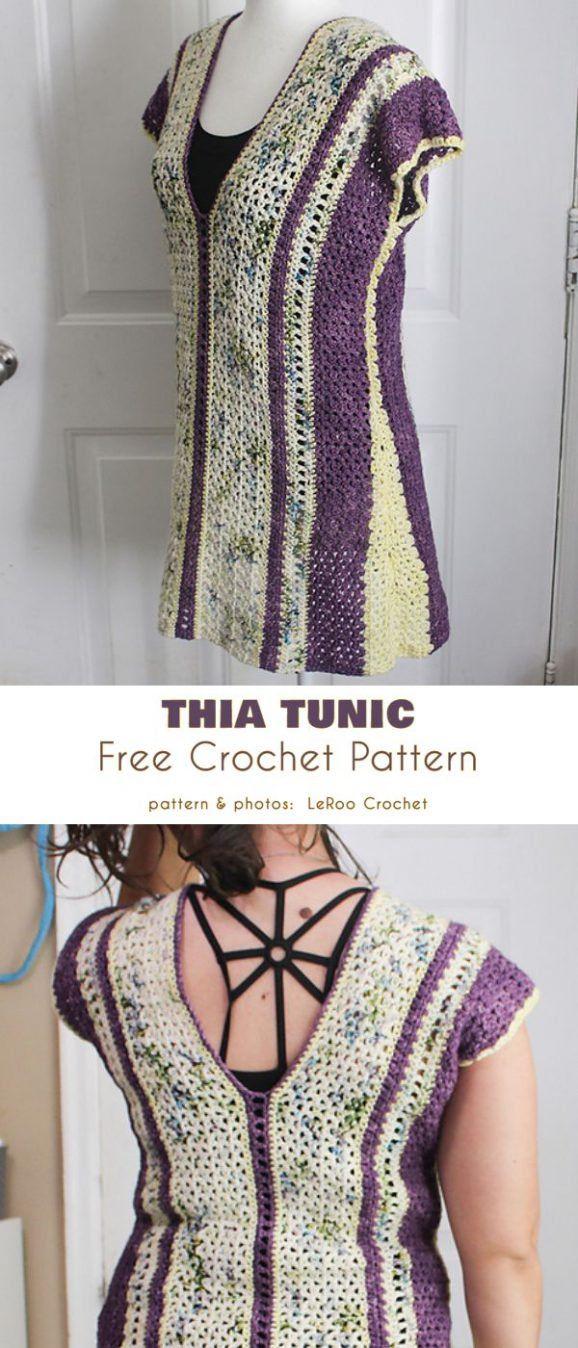 Thia Tunic Free Crochet Pattern #crochettunicpattern