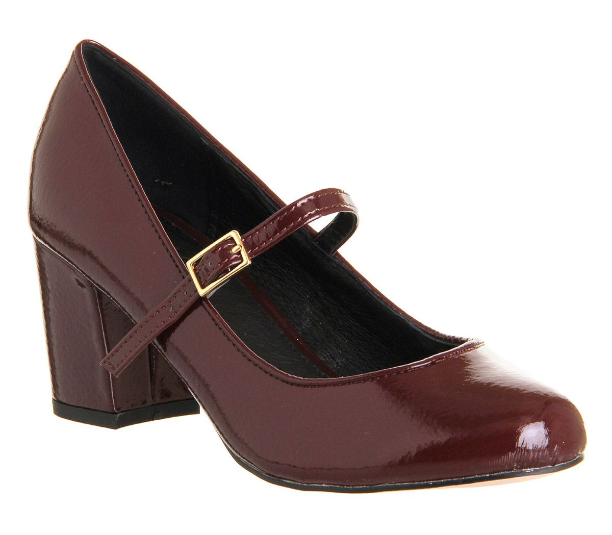 Office Gatsby Mid Heel Burgundy Patent - Mid Heels