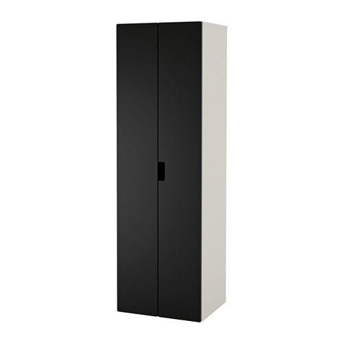 STUVA Wardrobe - white/black - IKEA