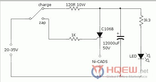 Ni Cad Battery Charger Zapper Circuit Diagram Schematics