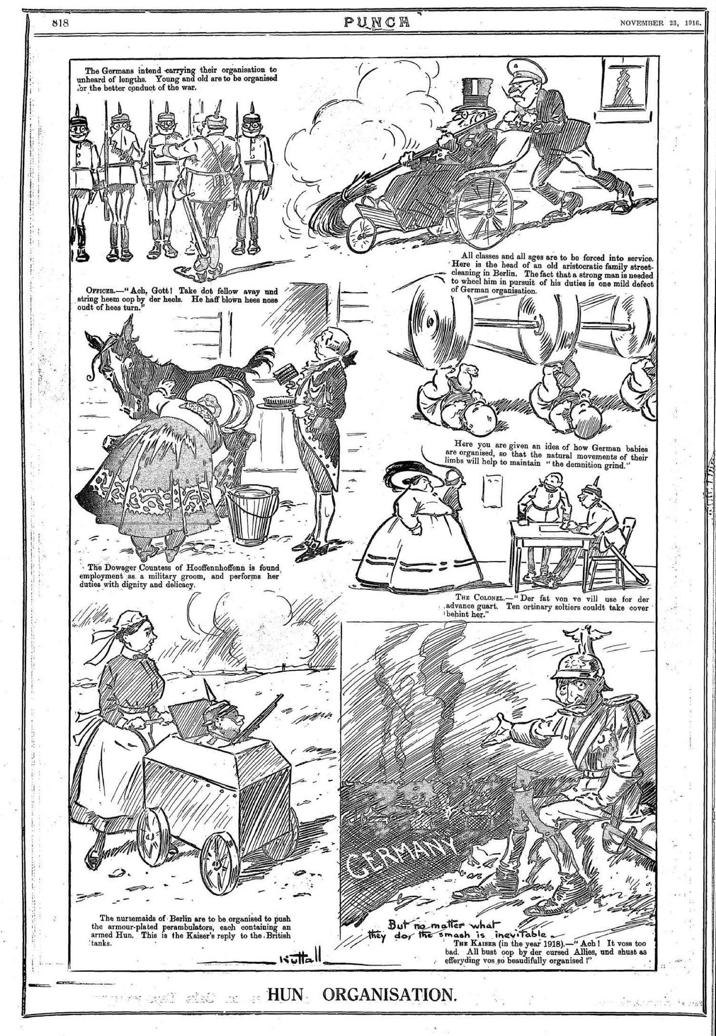 RT @FrontlineWW1: #WW1 Hun Organisation Punch (Melbourne) 23 Nov 1916 #ww1cartoon https://t.co/6eEdcj9shG