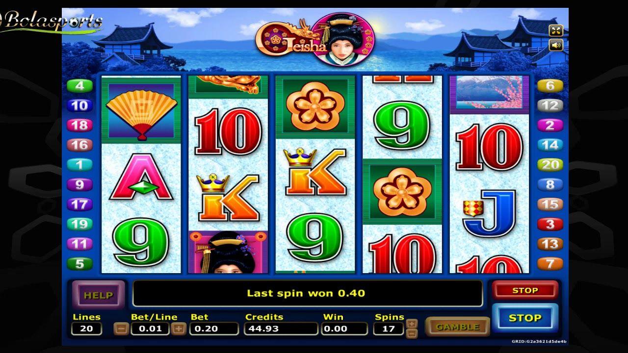 Lihat contoh permainan slot online Geisha di Situs Slot