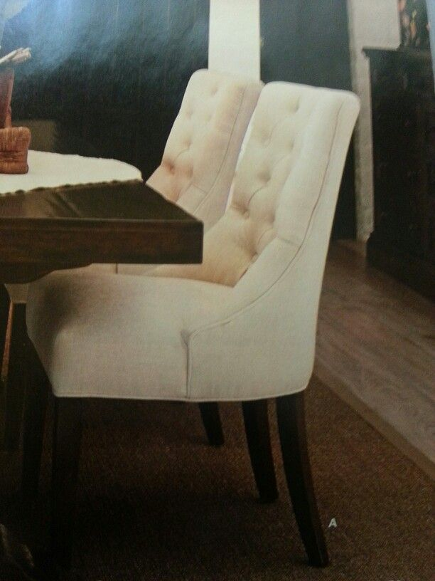Dining chairs from Pottery Barn Love the simplicity and