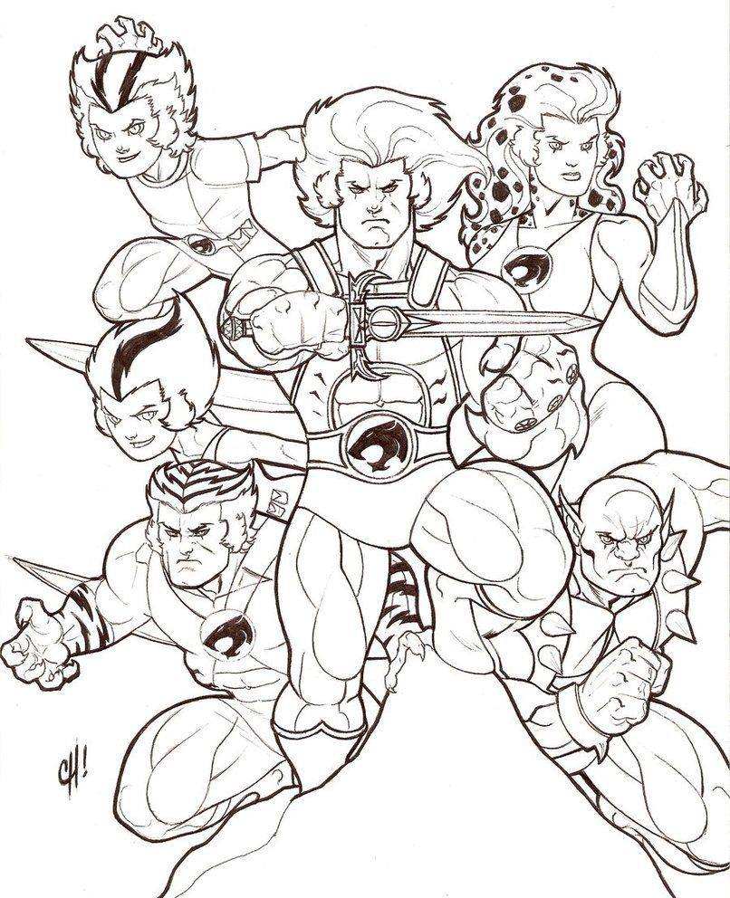 thundercats coloring pages 02 80s cartoons colouring