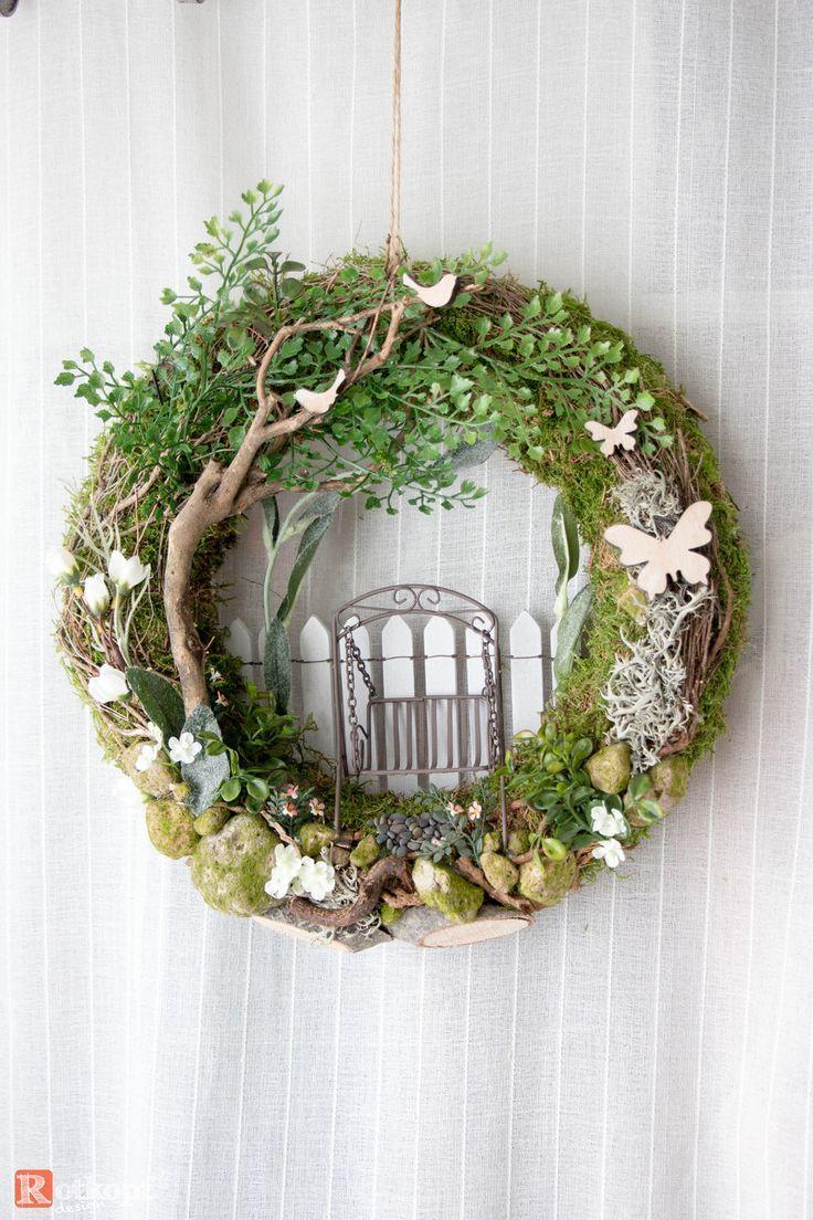 Photo of Door wreaths – door wreath summer Hollywood swing 1 – a unique design by Rotk …