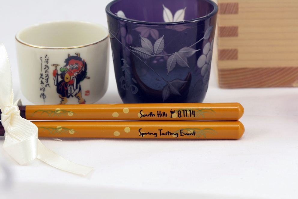 Personalized Chopstick Laser Engraved On Our Beautiful Two Toned