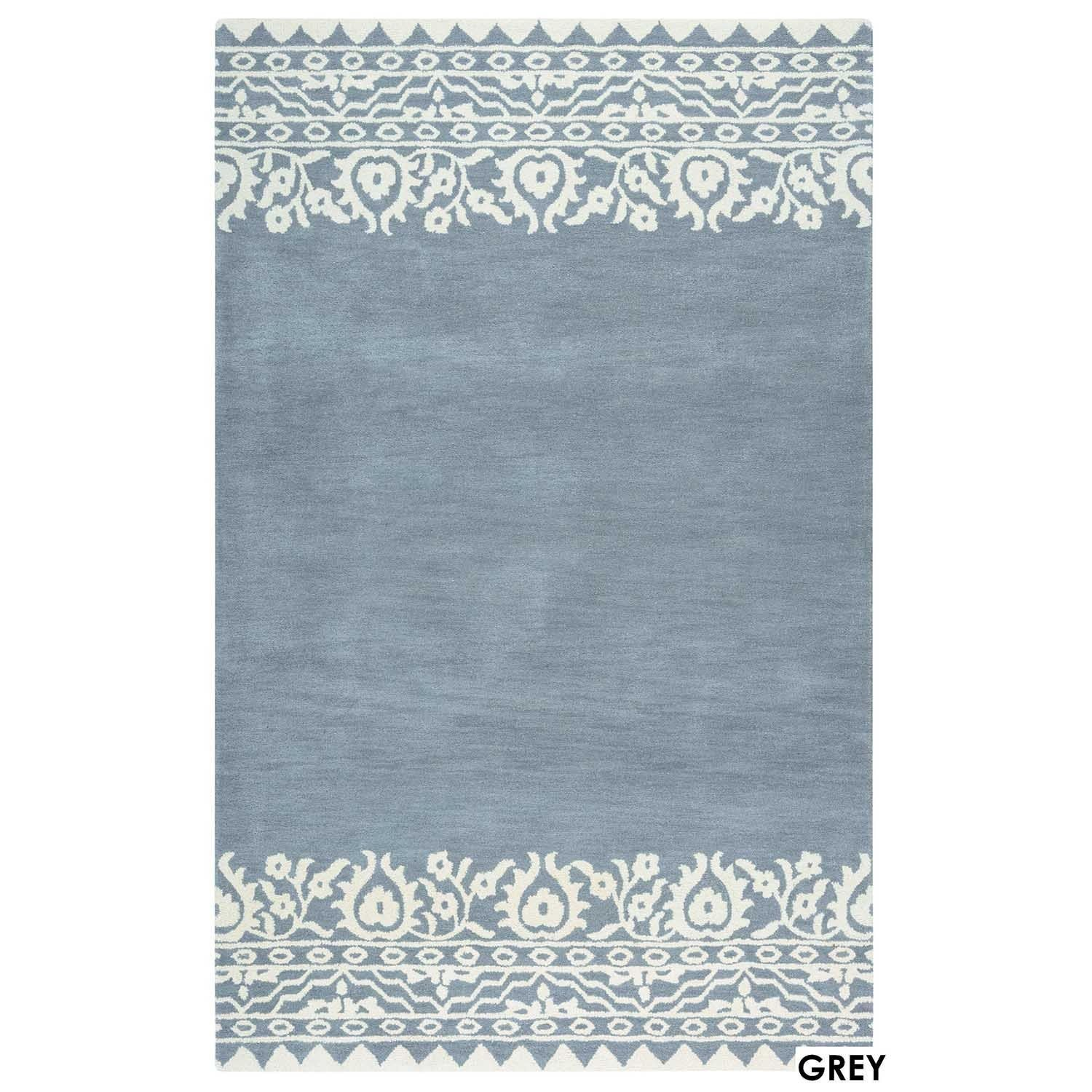 Lourdes Collection Navy Solid Area Rug 9 X 12 9 X 12 Area Rugs Solid Area Rugs Wool Area Rugs