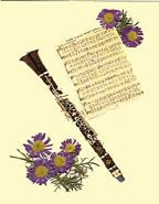 Clarinet and Flowers