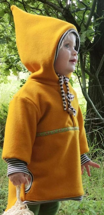 Sewing pattern Anorak by Lumali sew a jacket made of wool for children with   Sewing pattern Anorak from Lumali sew a jacket made of woolen run for children with