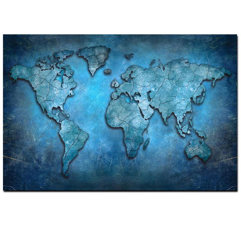 Big size abstract 3d world map canvas painting modern globe map big size abstract 3d world map canvas painting modern globe map print on canvas for office gumiabroncs Images