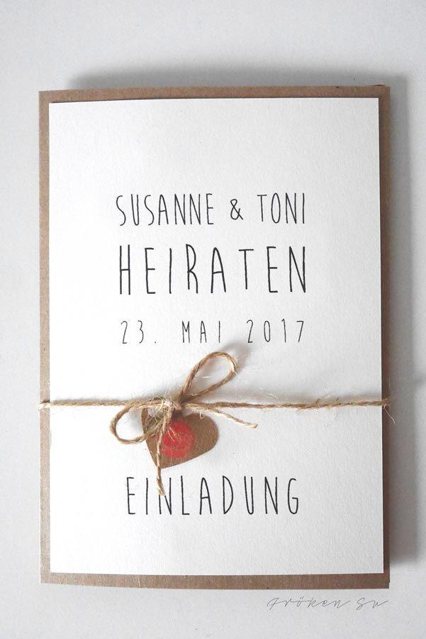 Bekannte DIY–Einladungskarte für Eure Hochzeit | Wedding, DIY wedding and  JU44