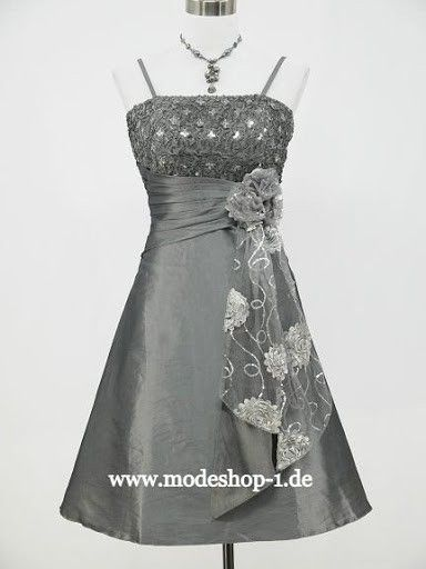 Cocktailkleid Stockholm in Silber Grau | Cocktailkleider 2018 ...