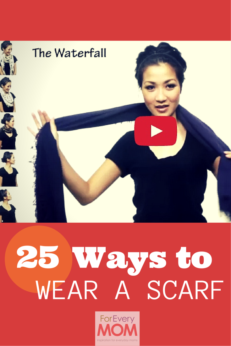 these 25 ways to wear a scarf will change your mom uniform forever