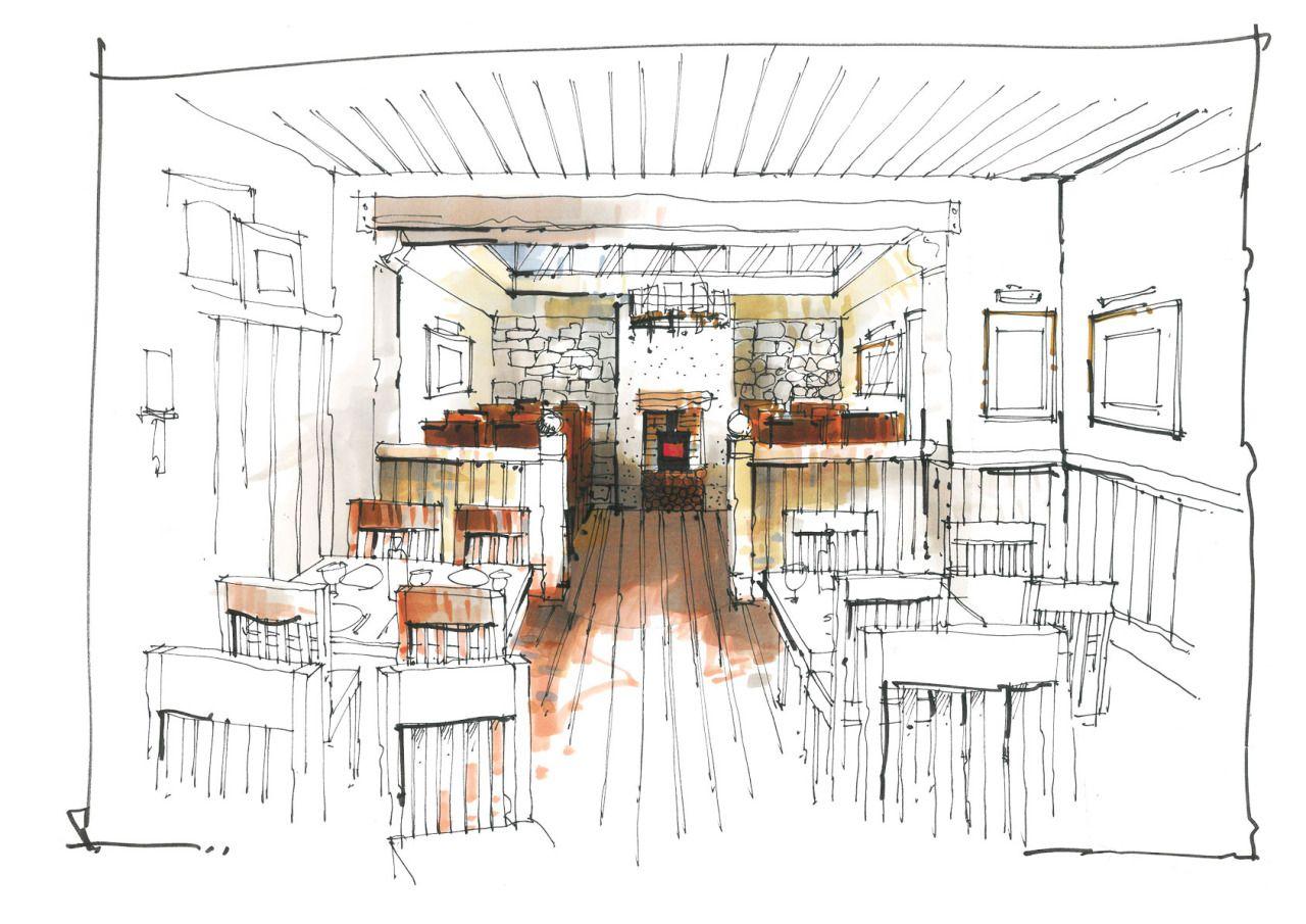 furniture sketches interior design. pub restaurant a quick sketch of dining room for pub operator in the furniture sketches interior design e