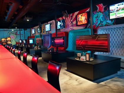 Insert Coins Arcade Bar Arcade Bar Sport Bar Design
