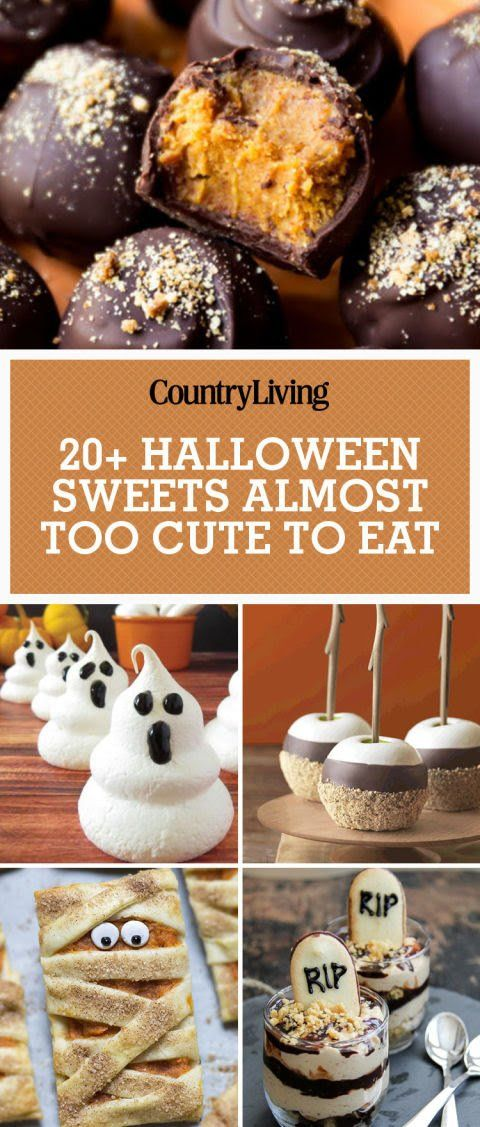 These recipes are so cute it\u0027s scary Sweet foods/ recipes - halloween dessert ideas