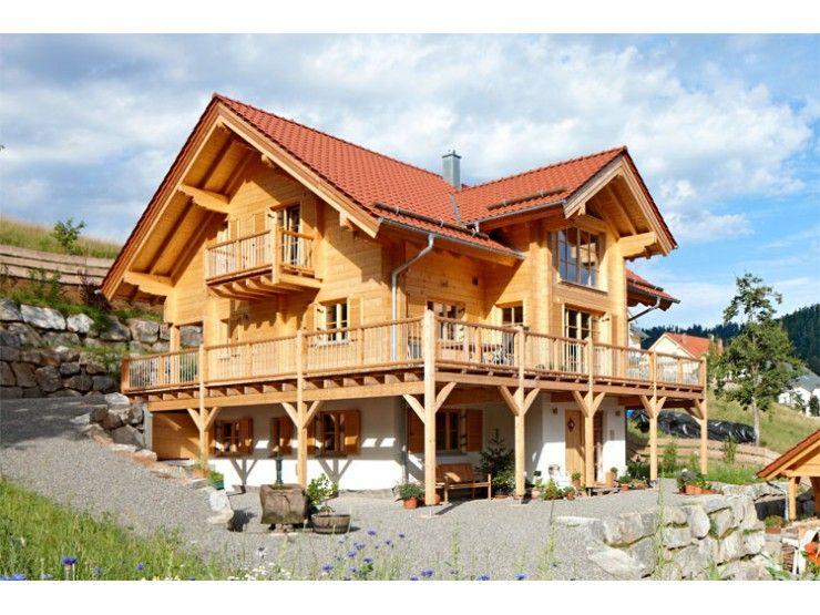 schwarzwald einfamilienhaus von rems murr holzhaus gmbh hausxxl blockhaus landhausstil. Black Bedroom Furniture Sets. Home Design Ideas