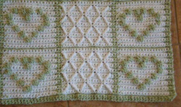 Free Crochet Pattern For A Beautiful Heart Afghan And 1000s Of