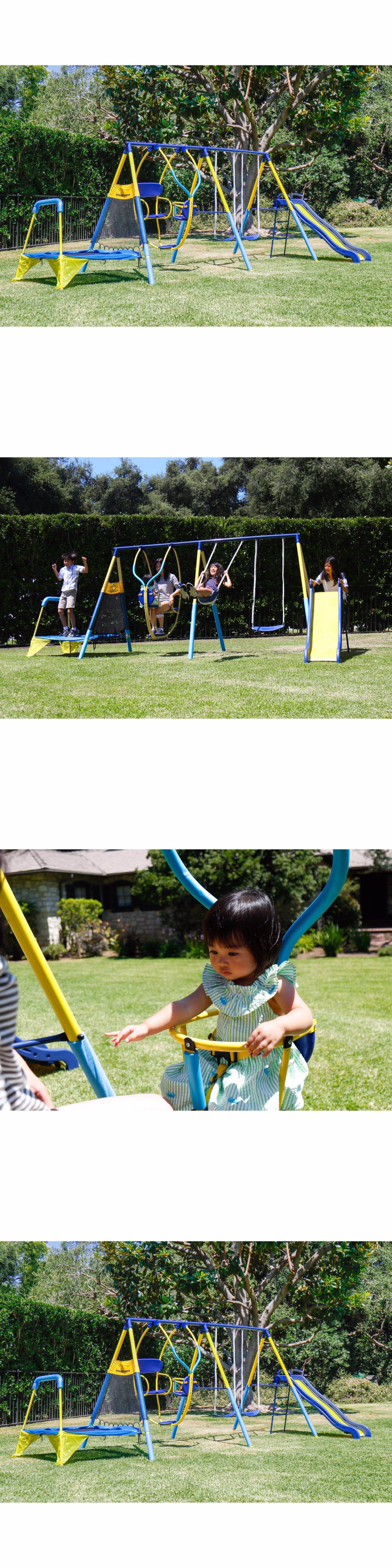 swings slides and gyms 16515 metal swing set playground swingset