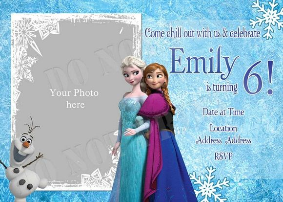 Elsa Frozen Birthday Party Invitation Template Invitation Cards - Party invitation template: frozen birthday party invitation template