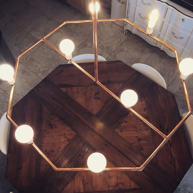 Seesaws and sawhorses diy a copper pipe chandelier diy seesaws and sawhorses diy a copper pipe chandelier mozeypictures Gallery